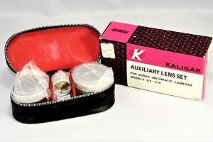 NOS Vintage Kaligar Auxiliary Lens Set for Kodak Instamatic Model 314 - 414