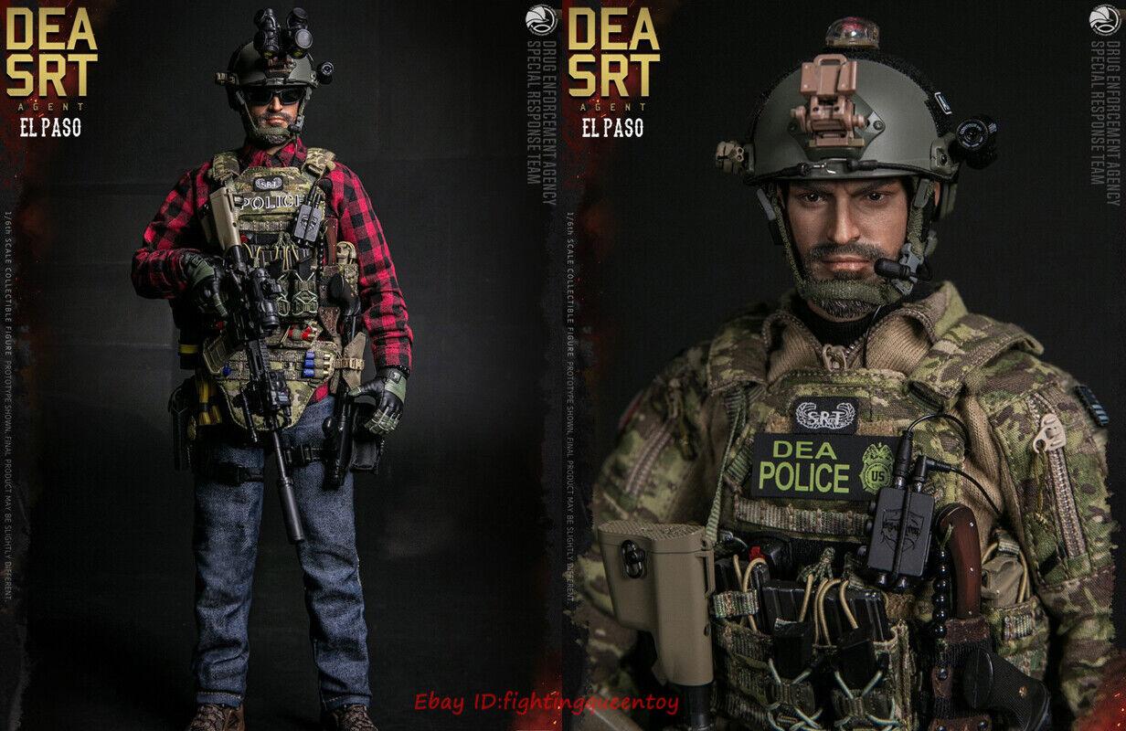 DAMTOYS 1//6 DEA SRT Special Response TeamAGENT EL PASO 78063 Action Figure SHP
