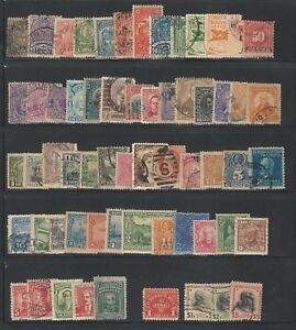 Worldwide-America-Lot-of-60-different-stamps-good-countries-used-WO121