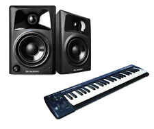M-Audio AV32 Studiophile Studio Monitors & Keystation 49 Keyboard Controller
