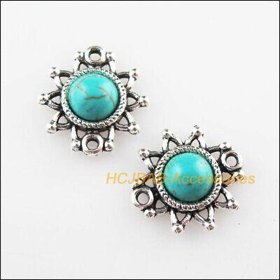 10pcs Tibetan Silver Charms a Cute Sunflower Beads Pendant DIY Craft 20*27mm