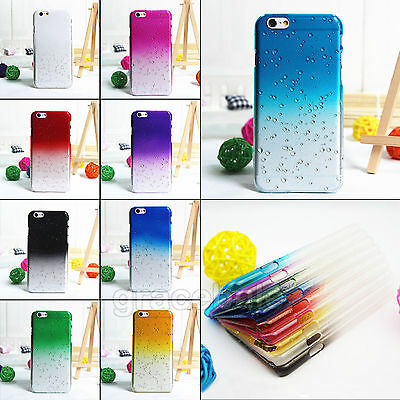 New Colorful Raindrops 3D Ultra Thin Hard Skin Case Cover for iPhone 6 / 6 Plus