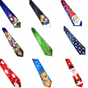 Men-Christmas-Santa-Tree-Reindeer-Festival-Necktie-Helloween-Tie-Multicolor-US