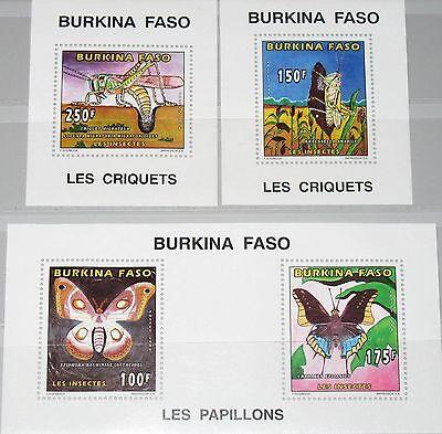 Briefmarken WohltäTig Burkina Faso 1996 Block A 170-d170 A 1065-68 Butterflies Insects Fauna Mnh Burkina Faso