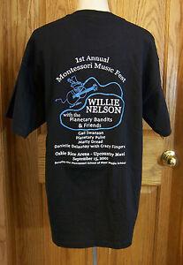 Willie nelson music fest black hanes t tee shirt heavy for Heavy duty work t shirts