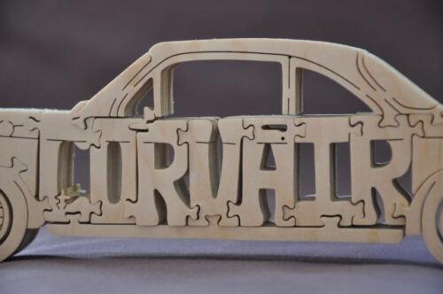 NEW Vintage Corvair Automobile Antique Car Wooden Puzzle Toy Figurine
