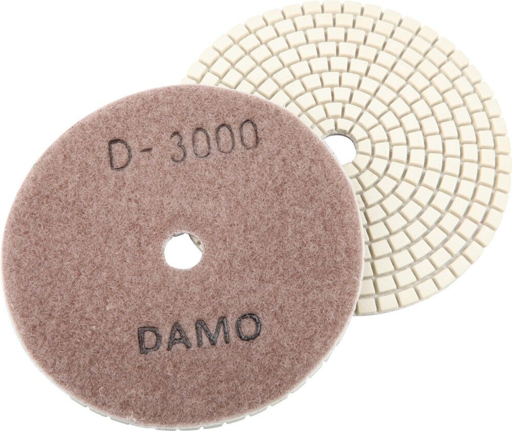 Dry or Wet 4 Diamond Polishing Pads 8 Pcs Set for Granite Concrete Marble Grits 30-3000