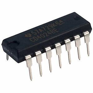 6x CD4024BE IC Digital Counter Divider CMOS Dip14 Texas Instruments