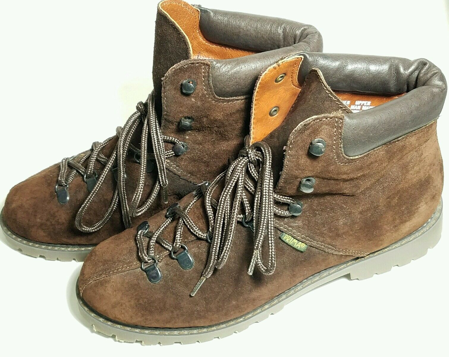 Women's Prima Royale Leather Alps Brown Hiking Ankle Fashion Boots - Sz 10M