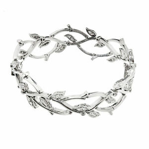 d934a7c01 Image is loading 1990s-Tiffany-amp-Co-Diamond-Platinum-Garland-Bracelet