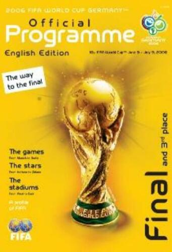 2006 WORLD CUP FINAL PROGRAMME ITALY v FRANCE