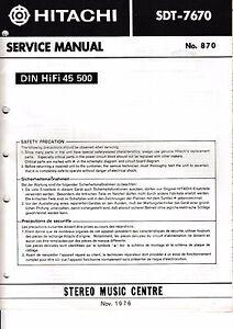Clever Service Manual-anleitung Für Hitachi Sdt-7670 Klar Und Unverwechselbar Tv, Video & Audio