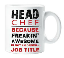 Head Chef Red Mug Freakin Awesome Official Job Title Novelty Cup Funny Gift