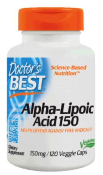 Doctor's Best Alpha-Liponsäure 150mg, 120 Veg.Kapseln, VERSAND WELTWEIT