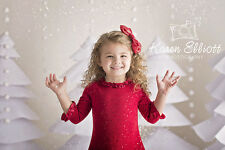 Photography Backdrops Christmas, Paper Trees Vinyl Background Babies Kids 6'x5'