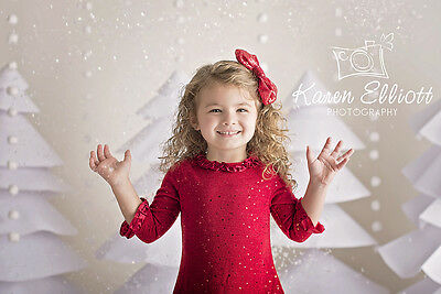 Photography Backdrops Christmas, Paper Trees Vinyl Background Babies Kids 5x5