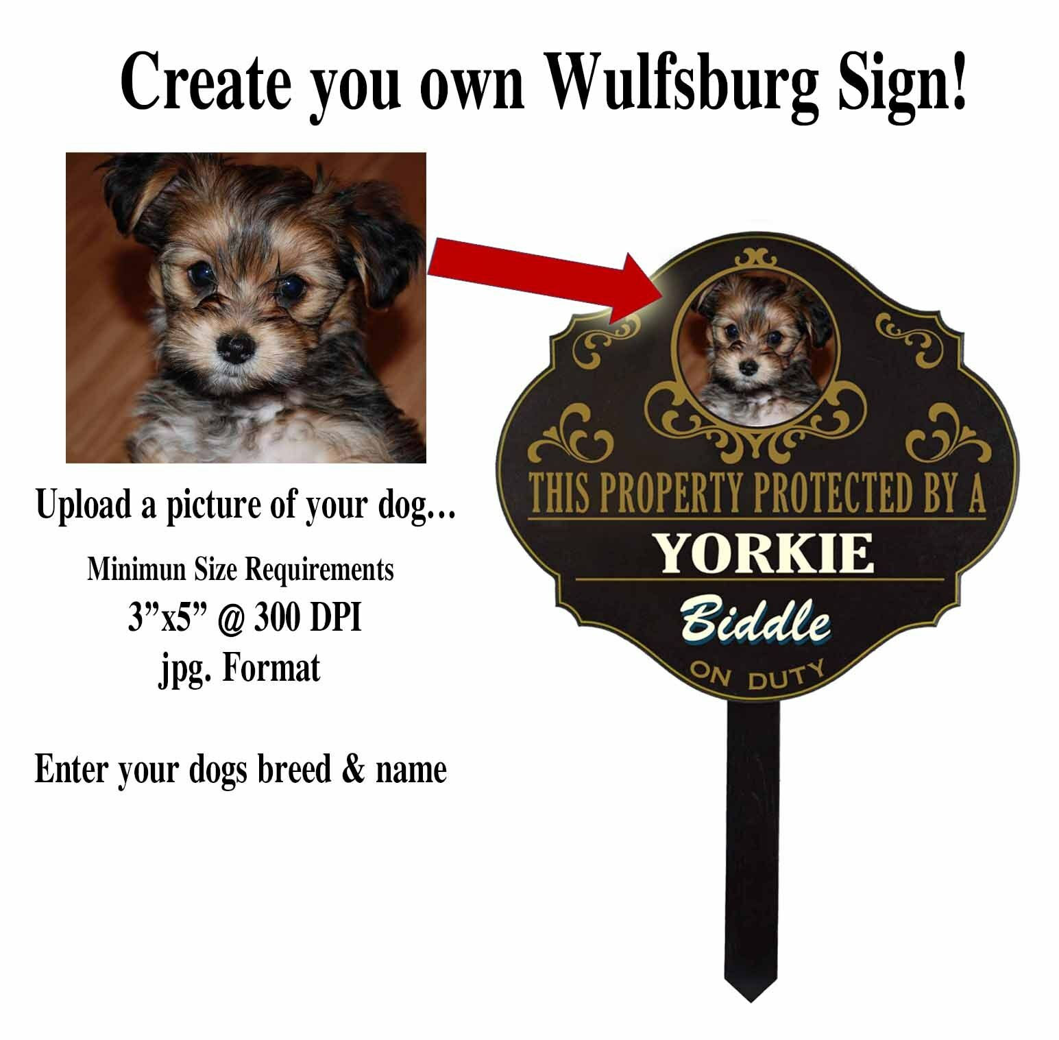 Personalized  Protected by  Your Photo Enterot Custom Dog Dog Dog Name Sign House Yard bb38d1