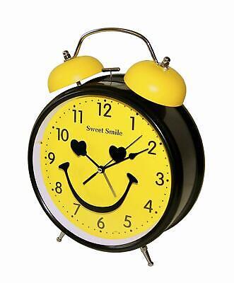 Eerlijkheid Xxl Nostalgischer Retro Glocken Wecker Uhr Glockenwecker Quarzuhr Tischuhr Licht Mild En Mellow