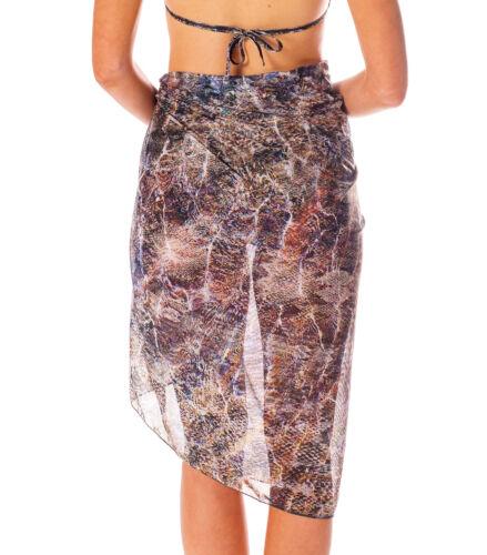 Kiniki Bali Tan Through Beach Sarong Quick Drying Fabric Made in England