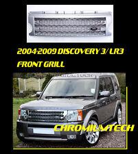 Descubrimiento 2004-09 3 LR3 Plateado Parrilla sobrealimentados Estilo Con Libre Land Rover Insignia