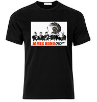 James Bond 50 Years - Graphic Cotton T Shirt Short & Long Sleeve