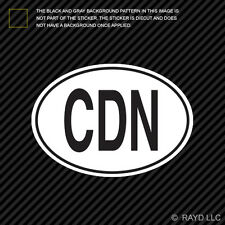 CDN Canada Country Code Oval Sticker Decal Self Adhesive Canadian euro