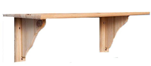 Natural Wood Pine Shelf Kit 890mm Unfinished Storage Shelves Rounded Edge