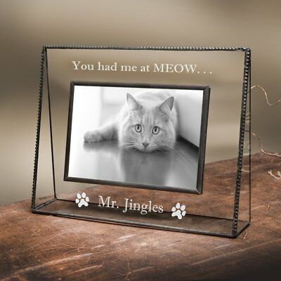 J Devlin Pic 319-46V EP595 Personalized Rescue Dog Picture Frame Engraved 4x6