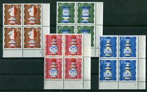 Berlin-435-438-Formnummer-postfrisch-Eckrand-Viererblock-FN-Ecke-4-VB-1972