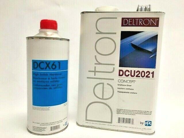 Brand New PPG Clear Coat Deltron 1gal Dcu2021 & DCX61 1qt. JUNE 2021 PRODUCTION!