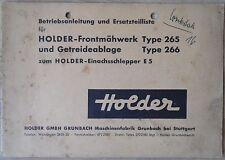Holder Frontmähwerk und Getreideablage Typ 265 , 266 Anleitung und ET-Liste