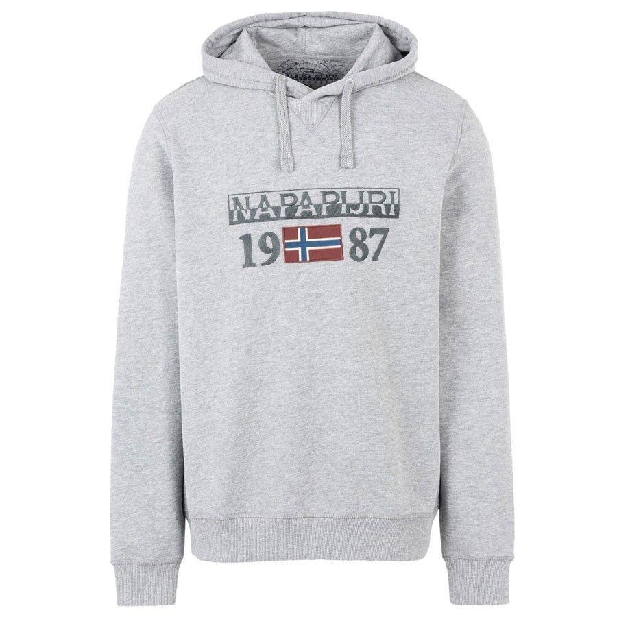 Napapijri Sweatshirt BERTHOW HOOD grau 160 hellgrau Mod. NOYH4U160