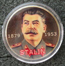 SOVIET RUSSIAN CCCP 1 oz  STALIN 24 KT  gold plated  COLLECTIBLE medal   COIN