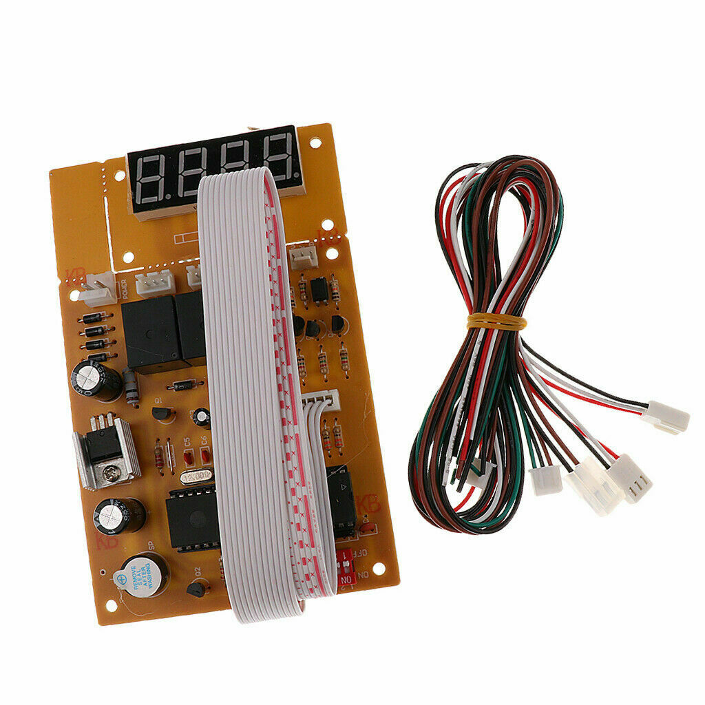 New Arcade Machine Coin Slot Usb Timer Board w/ Separate LCD Display