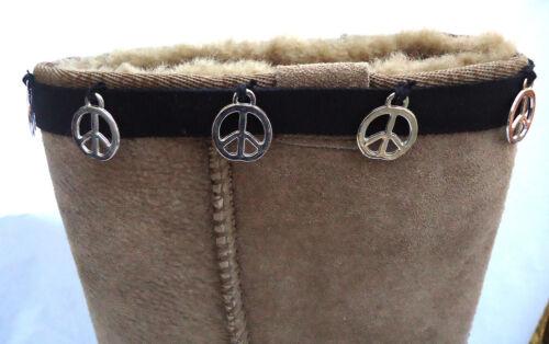 la paix cadeau parfait ou cadeau. Noir /& Argent Nouveau démarrage poignets Toppers Hugs