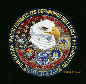 DEFENERS-OF-FREEDOM-MEMORIAL-PATCH-US-ARMY-MARINES-NAVY-AIR-FORCE-EAGLE-GIFT-WOW