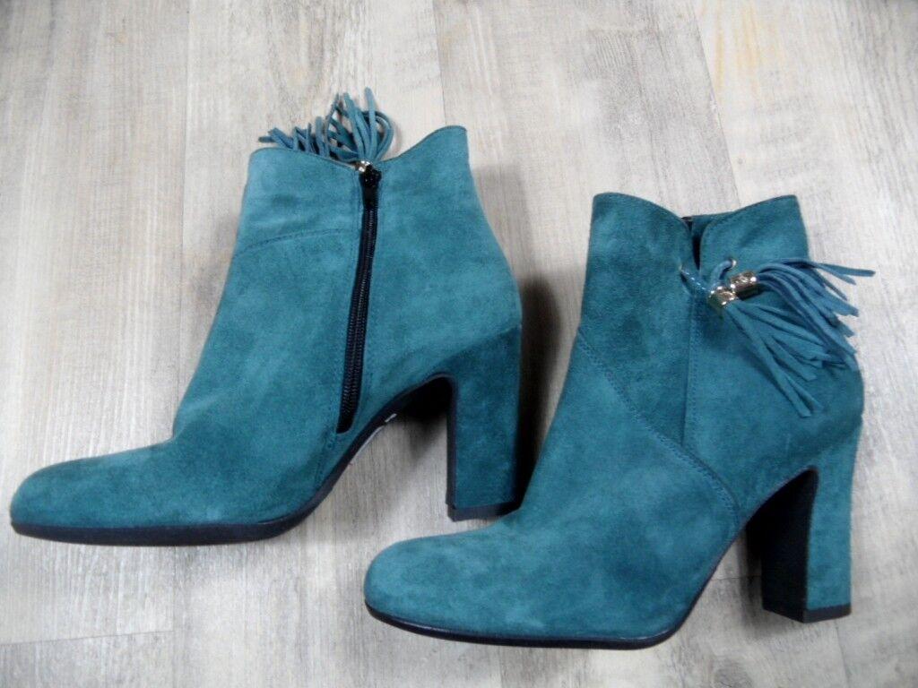 Tosca Blu elegante elegante Blu botines de gamuza verde top zc1217 2de7da