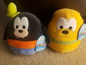 """NWT Squishmallow Disney Goofy & Pluto plush! HTF! Rare! Kellytoy. 10""""."""