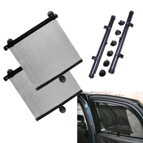 Auto Retractable Car Curtain Side Window Shade Windshield Sunshade Shield Visor