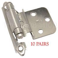 20 Amerock Satin Nickel 7128-g10 3/8 Offset Inset Door Cabinet Hinge Hardware