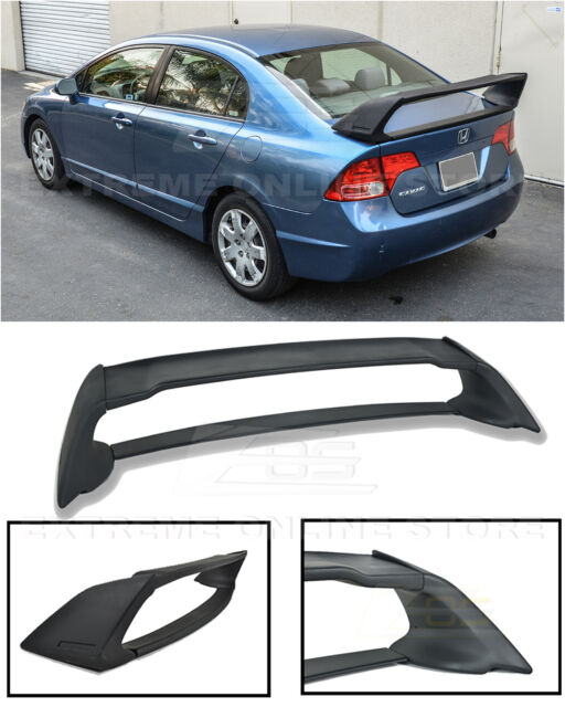 Mugen RR Style ABS Plastic Rear Trunk Wing Spoiler For 06