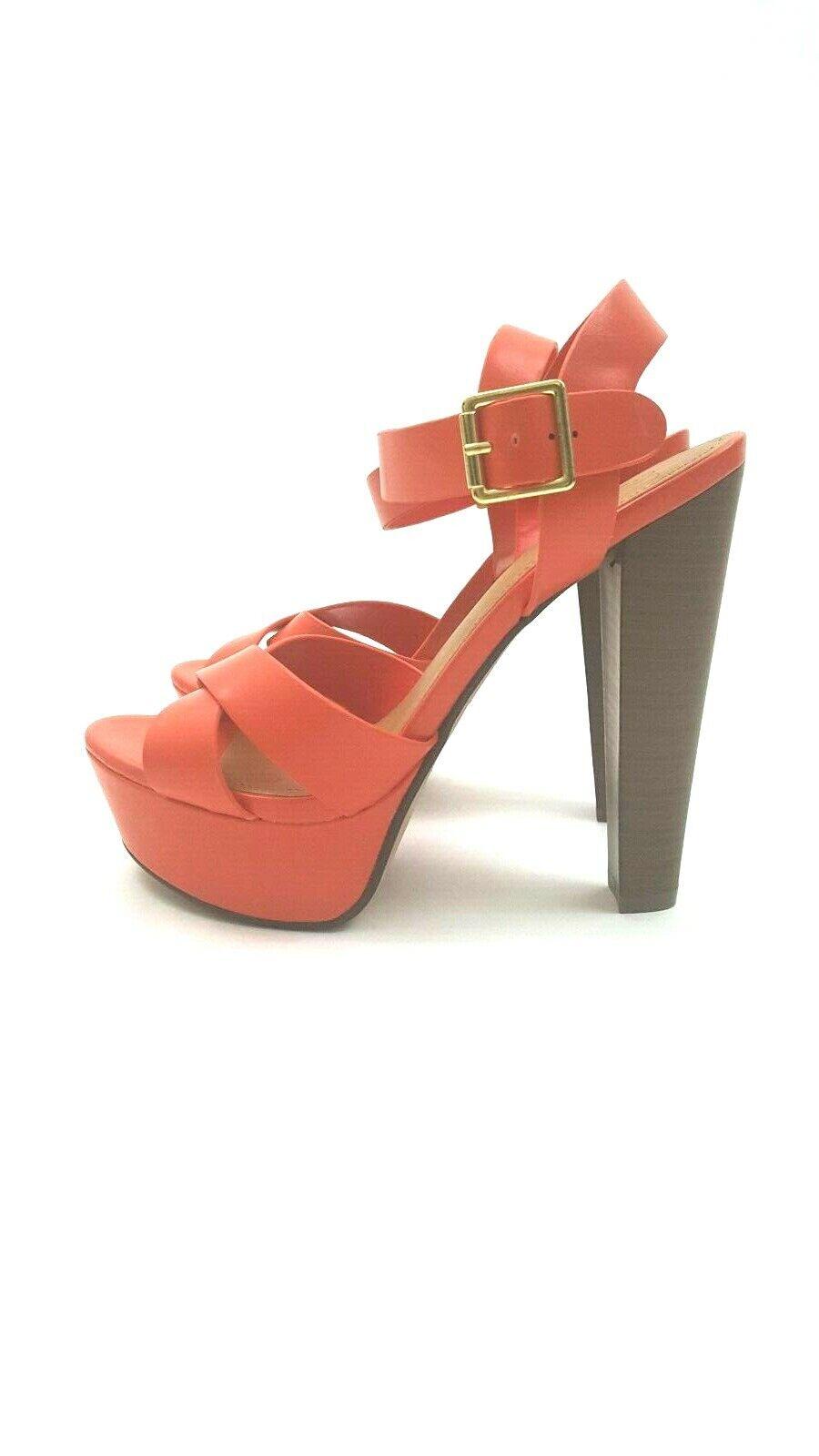 Coral Ankle Strap Chunky Stiletto Heel Platform Sandal 8.5 M