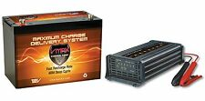 VMAX MR127 12V 100Ah AGM Marine Battery + VMAX 12V 15Amp 7 Stage Smart Charger