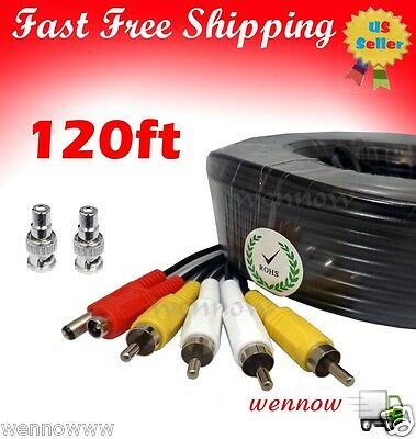 QS120Ft Audio Video /& Power 120 Foot Extension RCA Cable