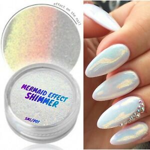 MERMAID-EFFECT-GLITTER-NAIL-ART-POWDER-DUST-GLIMMER-Hot-Nails-Iridescent-3g-UK
