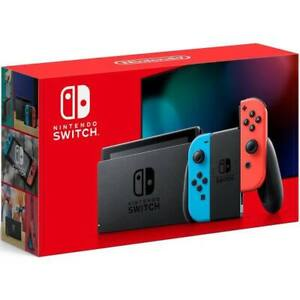 2020 Nintendo Switch with Neon Blue and Neon Red Joy‑Con 32GB (Newest Model)