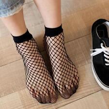 2 Pairs Ladies' Fashion Black Mesh Fishnet Net Stockings Tights Crew Tube Socks