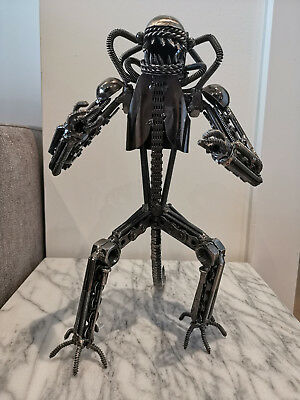 """Alien 11"""" Nuts And Bolts Metal Sculpture"""