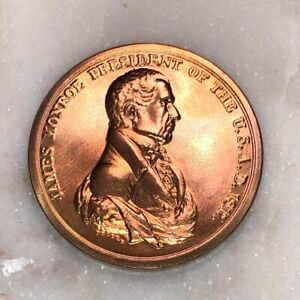 President-James-Monroe-Bronze-Inaugural-Peace-and-Friendship-Medal-Coin-Token