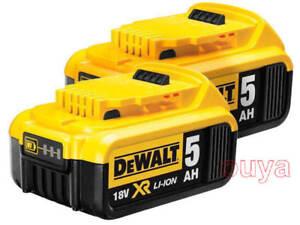 2x-DEWALT-18V-5-0Ah-XR-for-DCB184-DCB184-XE-90Wh-LI-Ion-BATTERY-PACK